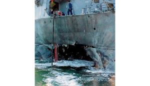 USS Cole, which al-Qaeda bombed in Yemen in 2000. photograph: afp/getty