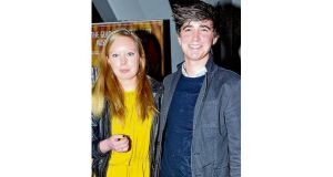 Donal Skehan and his girlfriend, Sofie Larsson, at the opening of High Society at the Bord Gáis Energy Theatre. photograph: cathal burke/vipireland.com