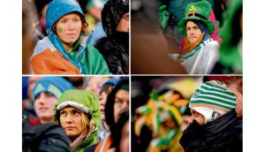 The faces of the Irish fans tell the tale of a 12-6 defeat to England yesterday. photograph: dara mac dónaill