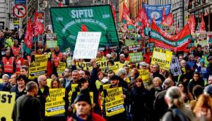 Tens of thousands attended the Dublin anti-austerity march organised by the Irish Congress of Trade Unions on Saturday. Addressing the rally in Dublin, Ictu's David Begg said the campaign would go on until the agreement reached in June last year by European leaders to separate bank debt from sovereign debt was honoured in full. photograph: dara mac dónaill