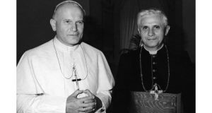 Cardinal Ratzinger with Pope John Paul II in 1979. photographs: reuters/ap