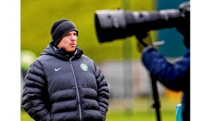 "Celtic manager Neil Lennon arrives for a team training session at Lennoxtown, outside Glasgow, ahead of his side's Champions League last-16, first leg clash against Juventus at Celtic Park tonight. ""I don't really need to motivate the players because they know what is at stake."" photograph: david moir/reuters"