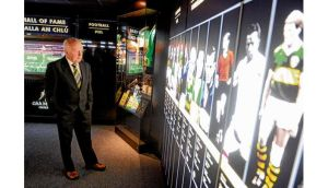 Hall of Fame inductee Offaly footballer Tony McTague in the GAA Museum, Croke Park yesterday. photograph: stephen mccarthy/ sportsfile