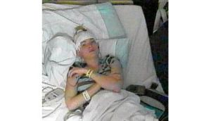 Cahalan during her stay in hospital.
