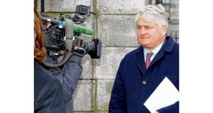 Denis O'Brien leaving the Four Courts yesterday on the fourth day of his High Court action against the Irish Daily Mail. photograph: collins/courts
