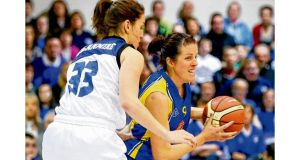 Michelle Fahy during UL Huskies 69-59 victory over Team Montenotte in January's cup final.