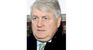 Denis O'Brien arriving at the Four Courts yesterday for the second week of Mr O'Brien's High Court libel action. Photograph: Collins Courts