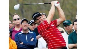 Pádraig Harrington will be in action today alongside Angel Cabrera and Stephen Ames during the first round of the Northern Trust Open.