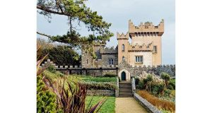 The castle is remote with great sea views. It has an impressive elongated frontage but is just two rooms deep