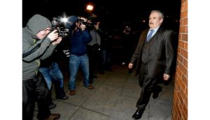 Journalist Paul Drury arriving at the Four Courts yesterday while the jury was in deliberations. photograph: collins courts