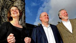 Dr Henrike Rau, of NUI Galway, Prof Daniel Schrag, of Harvard, and Prof Colin Brown, of NUI Galway. photograph: joe o'shaughnessy