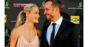 Model Reeva Steenkamp and athlete Oscar Pistorius attending an awards ceremony last November. photographs: reuters/ap/ getty/reuters