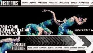 Nike advertisement removed from Paralympian athlete Oscar Pistorius's website yesterday
