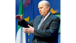 Minister for Finance Michael Noonan during a press briefing last week on the revised promissory notes arrangement