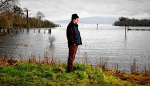 Lake view: Michael Harding at Lough Allen, Co Leitrim. photograph: brian farrell