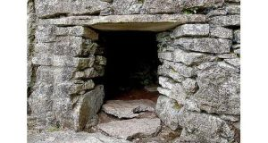 Mind your head: a sweat house near Parke's Castle, Co Leitrim. photograph: © national monuments service