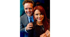 Mark Burnett and Roma Downey. Photograph: Chris Maddaloni and Cliff Lipson/CBS