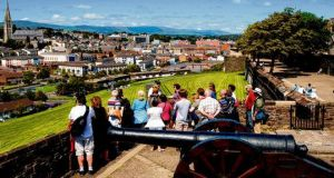 The view from the Derry Walls. photographs: gavan donnelly