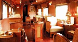 The lounge car of the Orient Express