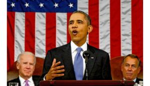 US president Barack Obama delivers the State of the Union address to a joint session of Congress in Washington last week, during which he warned he will use executive powers to get his way on issues including climate change if Congress doesn't act. Photographs: photograph: paul j richards/afp/getty, charles dharapak/pool via bloomberg