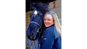 Susan Conley says meeting someone 'would be lovely, but the horse would have to come first'. Photograph: Eric Luke