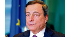 "European Central Bank president Mario Draghi, who yesterday said that if Ireland's debt deal was found to have breached the central bank's rules, ""we will see what legal remedial action has to be taken"". photograph: eric vidal/reuters"