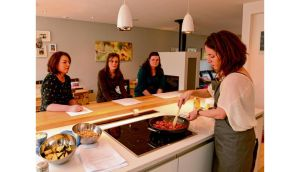Siobhán Berry teaches a Mummy Cooks class with Margaret Donnellan, Laura McEvoy and Charlene Boyle. Photographs: Cyril Byrne