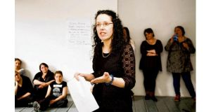 Mary Moynihan teaching one of her drama classes at the Conservatory of Music and Drama at DIT in Rathmines