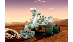 Artist's concept of Nasa's Mars Curiosity rover which in recent days successfully drilled into a rock and took samples of the dust it produced. Photograph: Nasa/Reuters