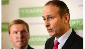 A second poll in as many weeks has shown that Fianna Fail is the most popular party in the State. Pictured is Fianna Fail leader Micheal Martin (r) and finance spokesman Michael McGrath.