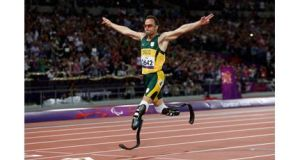 Pistorius pictured on the track in September 2012. Photograph: David Davies/PA Wire.