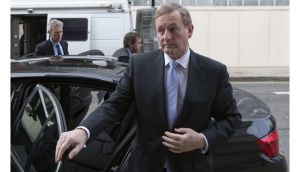 Taoiseach Enda Kenny arrives for a meeting at the Irish Embassy in London with UK based women who spent time in the Magdalene laundries before leaving Ireland. Photograph: Neil Hall.