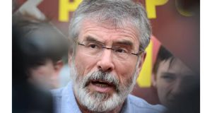 Sinn Fein leader Gerry Adams has joined the ranks of twitter users. Photograph: Dara Mac Donaill/The Irish Times