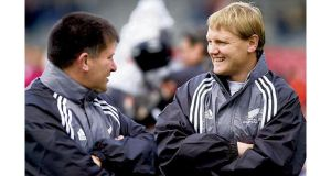 Josef Schmidt (right), during his early coaching days with New Zealand Schools, who will assume his first head coaching position when he joins Leinster next season.