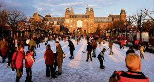 HOLIDAY ON ICE The winter rink outside the Rijksmuseum.