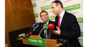 Fianna Fail leader Micheal Martin (above) told the Dail a number of credit unions would suffer huge losses due to the decision to liquidate IBRC. Photograph: Dara Mac Donaill/The Irish Times