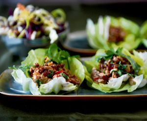 Pork larb. Photograph: Dara Mac Donaill