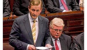 Enda Kenny delivering an apology to the Magdalene women on behalf of the State in the Dáil yesterday.