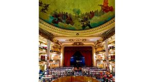 El Ateneo, in Buenos Aires. photographs: luis davilla/cover/ getty, gisele freund/time life/ getty and matt kavanagh
