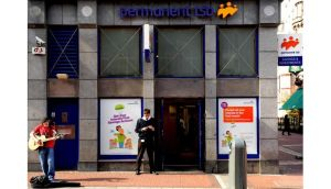 A Permanent TSB branch on Grafton Street, Dublin. According to Moody's, the bank faces major challenges.