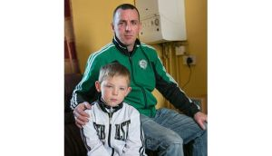 Dermot O'Donovan and his son Conor at their home in Clonmel. Photograph: John D Kelly.