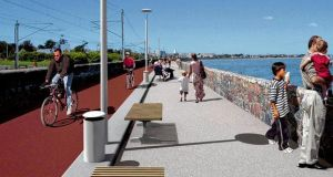 An artist's impression of a section near Booterstown strand of the 22km Sandycove to Sutton walk and cycleway project