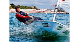 Olympic campaigner James Espey who is among the line-up of speakers at a dinghy sailing summit at the Royal St George Yacht Club in Dun Laoghaire tomorrow. Photograph: David Branigan