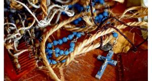 Rosary beads and other personal belongings of patients and staff
