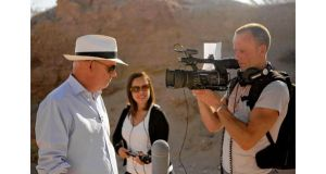 The artist Brian Maguire and the director Mark McLoughlin. The film crew were subjected to death threats in Juárez