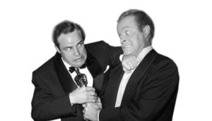 Hope springs eternal: long-running Oscars host Bob Hope with Marlon Brando in 1955. photograph: hulton/getty