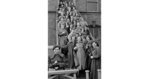 Ulster eras: Tillie and Henderson shirt factory workers in Derry, 1955. photographs: bert hardy/picture post, bob thomas/popperfoto