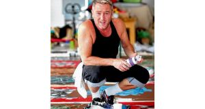 Michael Flatley in his art studio. photographs: brian mcevoy