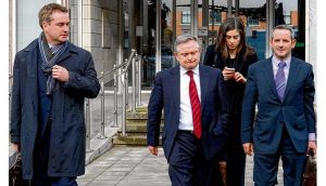 Brendan Howlin, Minister for Public Expenditure and Reform, after agreement was reached between the Government and public service unions yesterday morning. photograph: dara mac dónaill