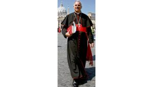 Cardinal Keith O'Brien walks in front of St Peter's Square in 2005. The Irish-born cardinal rejected accusations of 'inappropriate' behaviour with other priests. photograph: max rossi/reuters